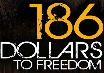 186 DOLLARS TO FREEDOM